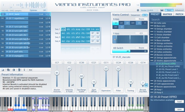 Instruments Pro Main GUI Screen