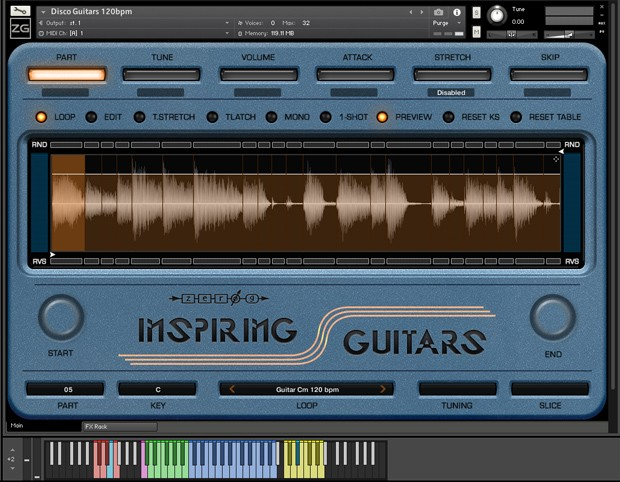 Inspiring Guitars GUI Screen