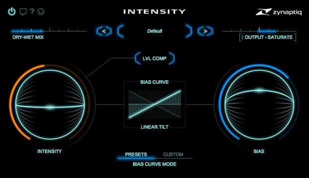 Intensity UI Screen