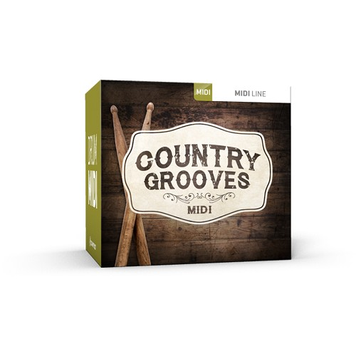 Drum MIDI Country Grooves