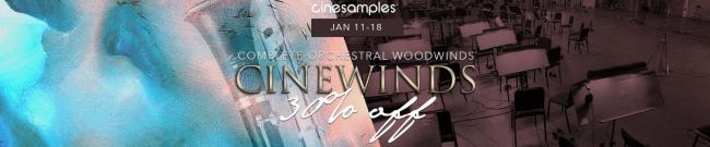 Cinesamples - CineWinds Flash Sale - 30% Off