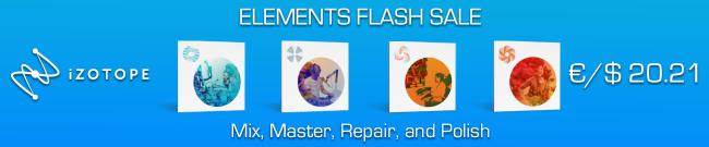 iZotope -  Elements Flash Sale 2021