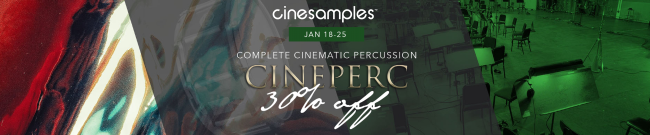 Cinesamples - CinePerc Flash Sale - 30% Off