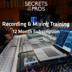 Recording & Mixing Training - 12 Months